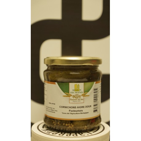 Cornichons aigre doux bio 330 g