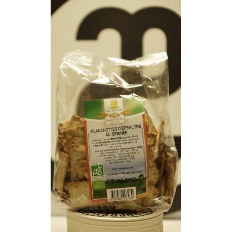 Planchettes d'épeautre bio au sésame 100 g