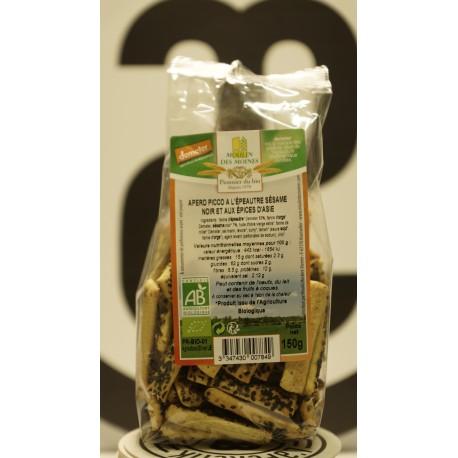 Apéro piccos sésame noir et épices d'asie 150 g