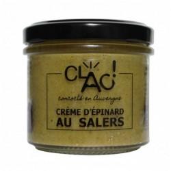 Crème d'épinard au Salers...